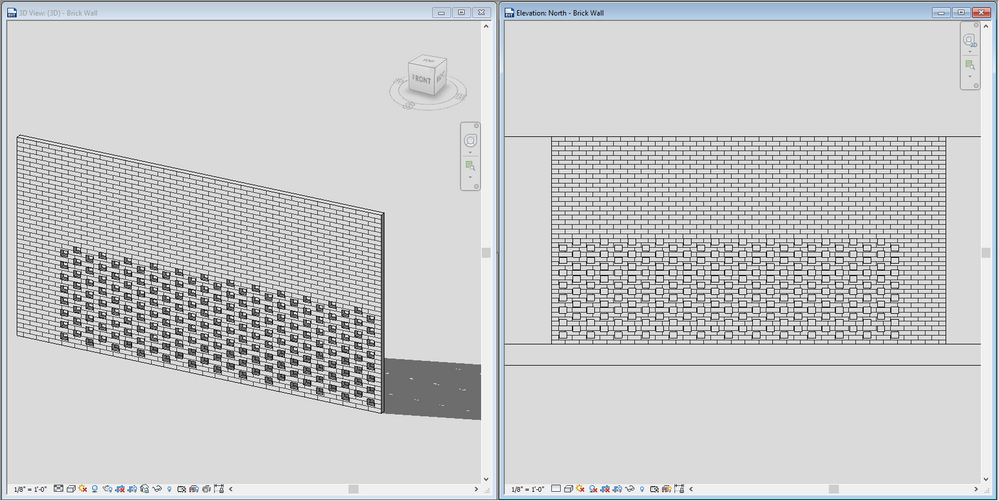 Solved Perforated Brick Wall In Revit Autodesk Community
