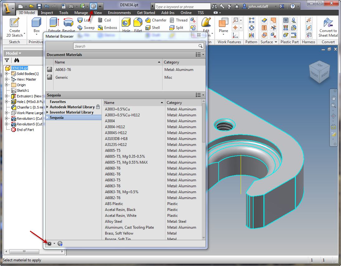 Where is Inventor 2013 Material Library? - Autodesk Community- Inventor