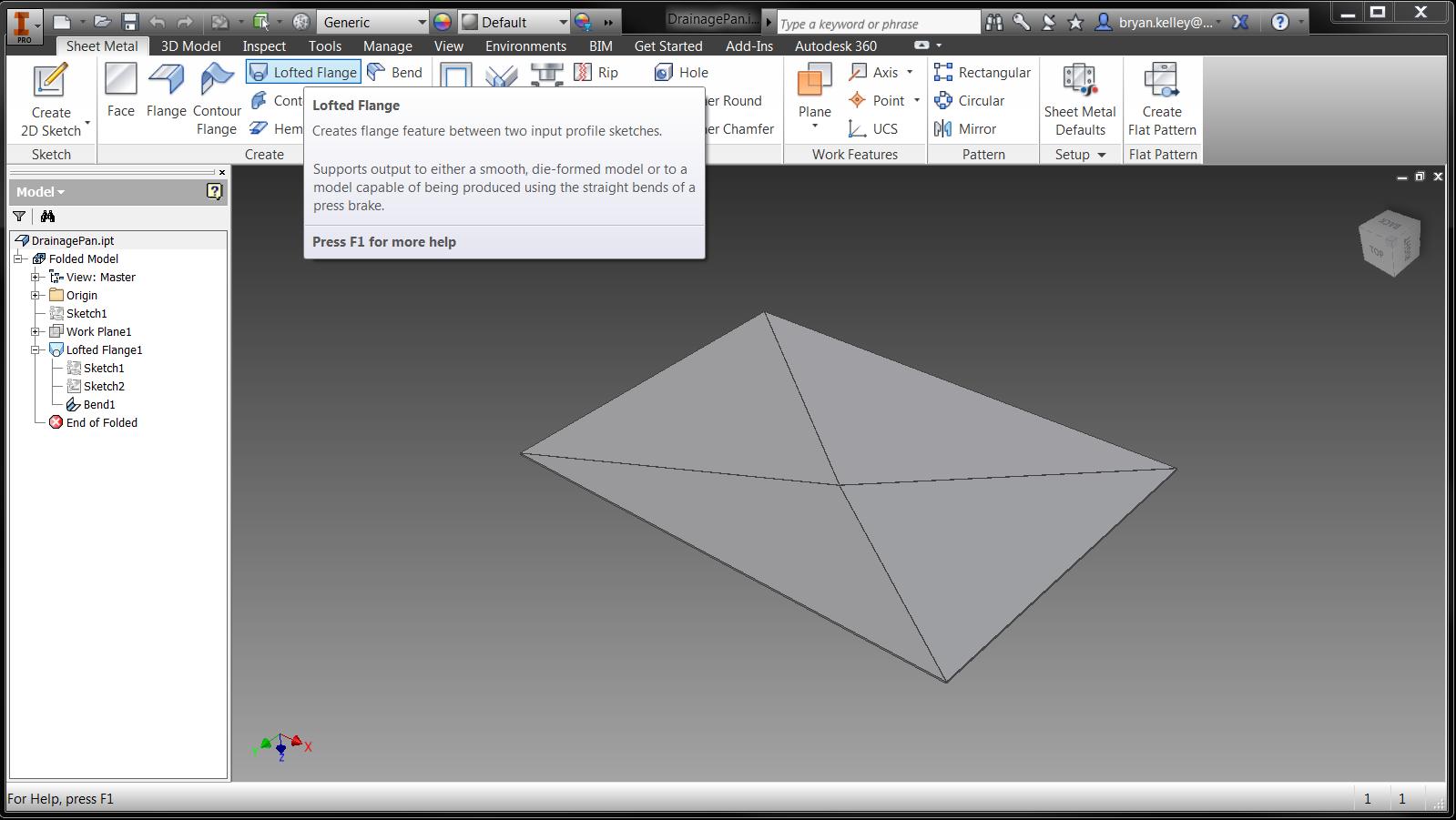 Drainage Pans For Sheet Metal Autodesk Community
