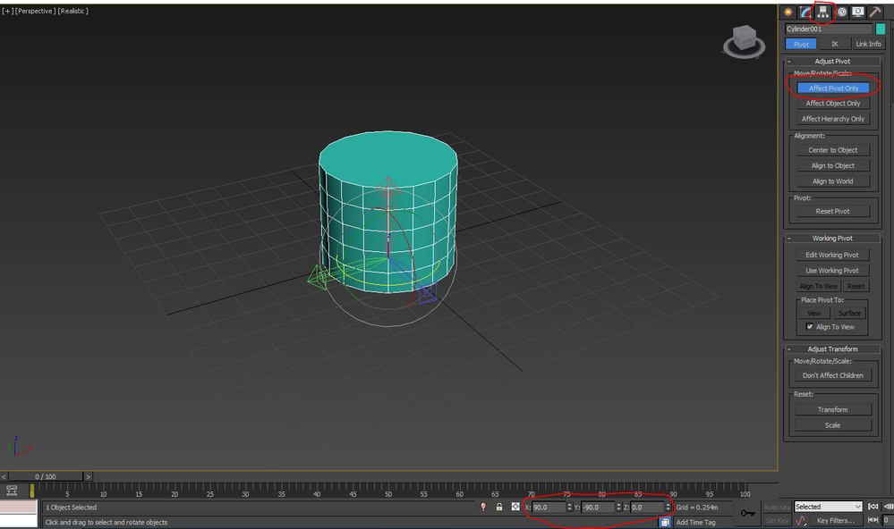 Changing pivot rotations in Max for Unity - Autodesk Community- 3ds Max