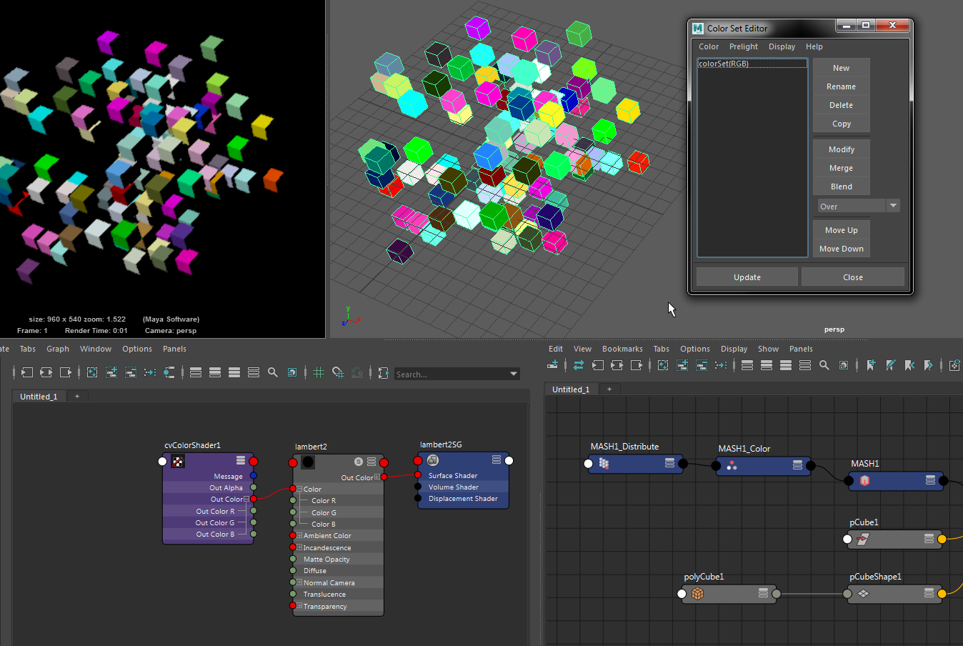 Solved: How do you render vertex colors in maya software