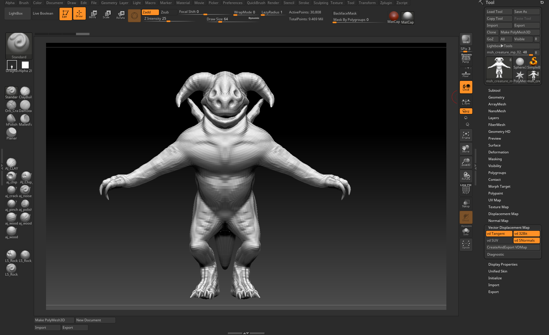 Displacement Map from ZBrush to Arnold for Maya 2018 - Autodesk