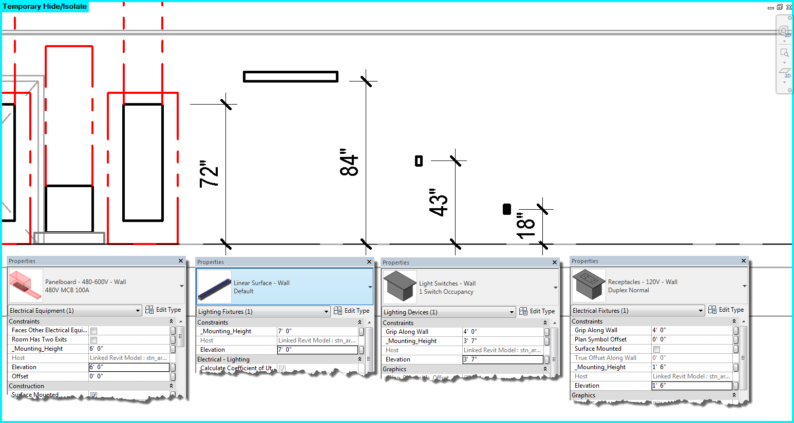 Tag the elevation for electrical fixture autodesk community