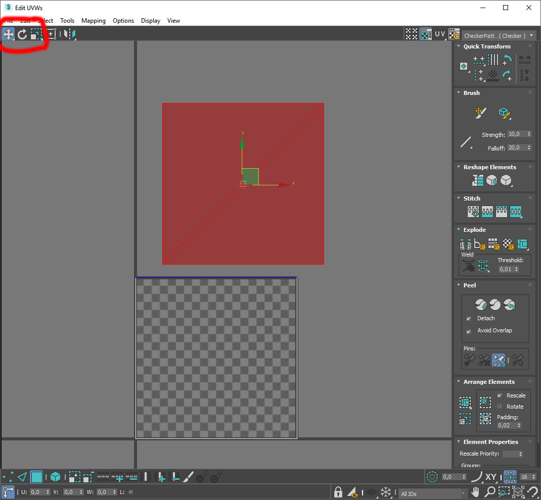 3ds max how to create transform to zero