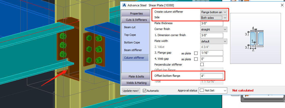 Solved: Shear plate of column/beam connection - Autodesk Community