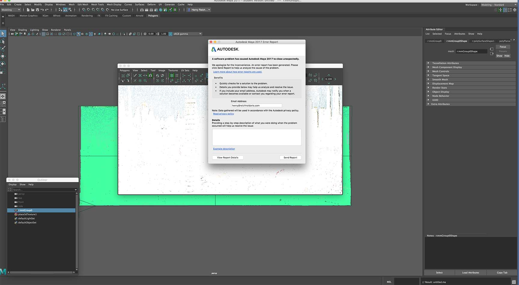 Solved: Maya 2017 student version crashes after student saving