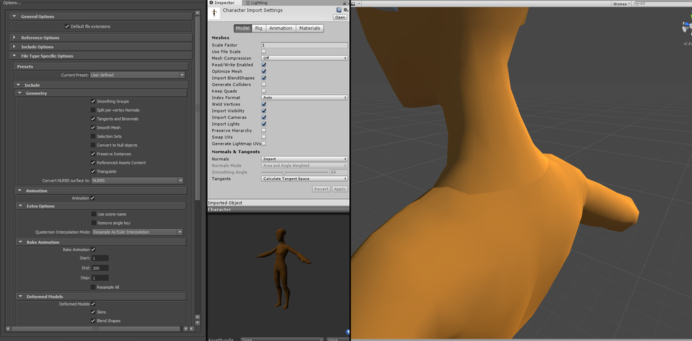 Export Modified Normals to FBX for Unity? - Autodesk