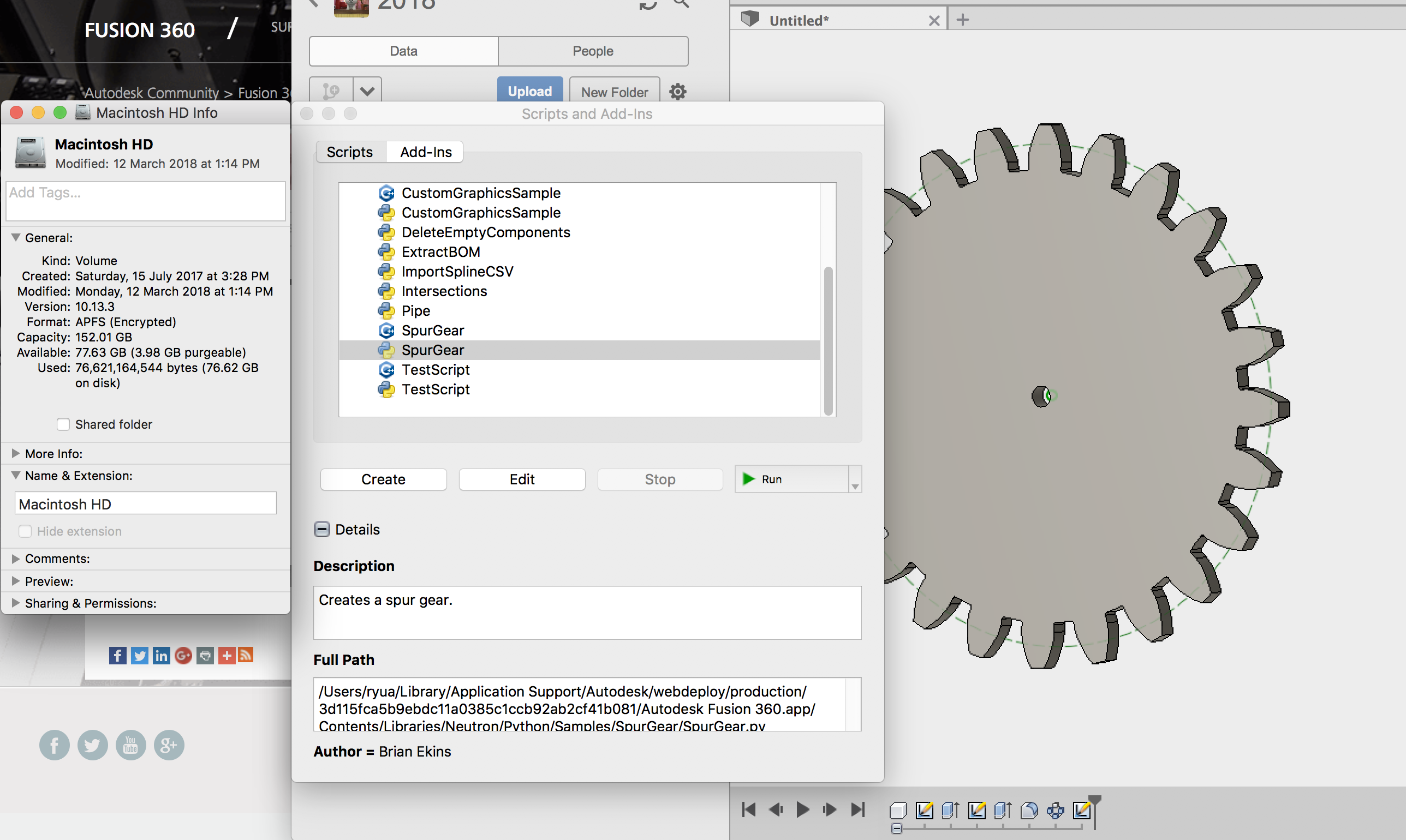 Gear script problem  - Autodesk Community- Fusion 360