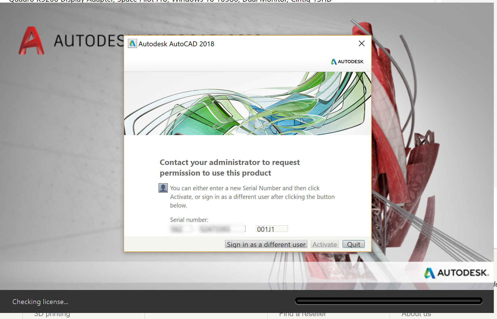 Solved: Autodesk Software Suddenly Not Activated - Autodesk