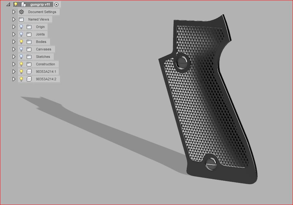 Solved: Making gun grip checkering - Autodesk Community