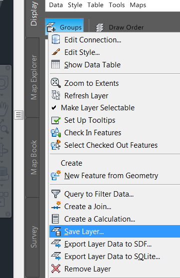 shapefiles and ESRI layer color- can it be remembered upon