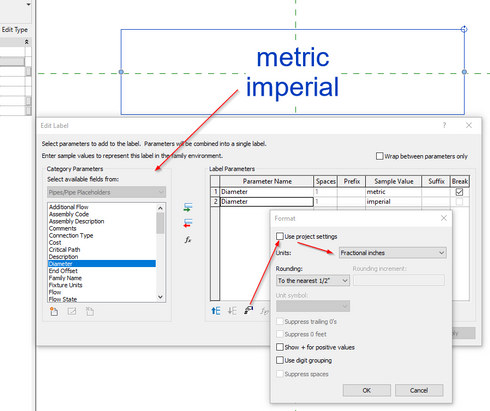 how to change revit from imperial to metric