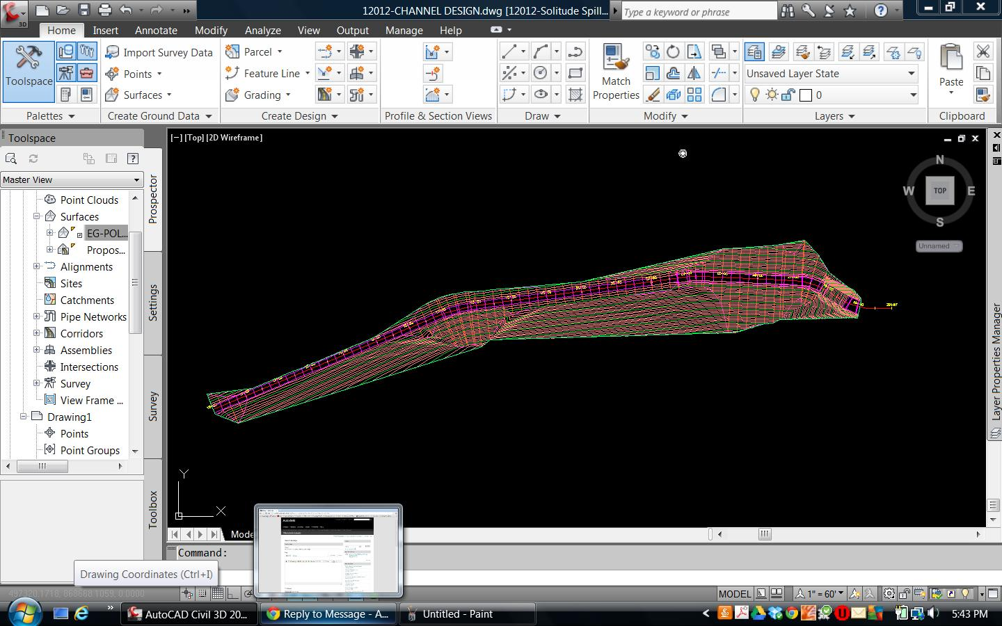 New to civil 3D modeling  Help with channel design - Autodesk