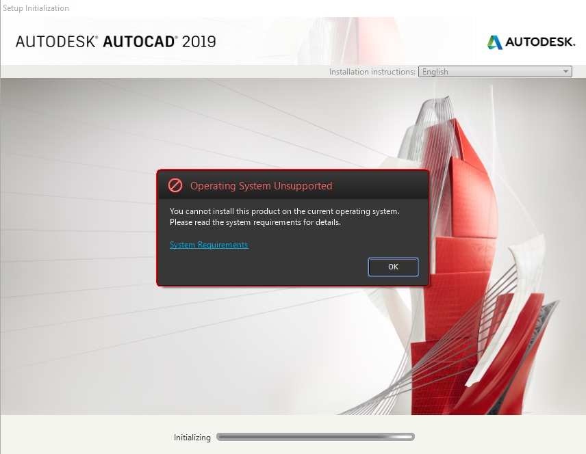 Solved: Cannot install this product on the current operating