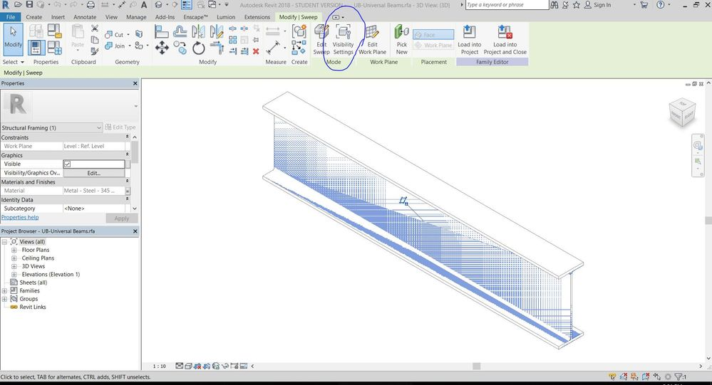 Solved: Structrural Framing Not Visible In Coarse View - Autodesk