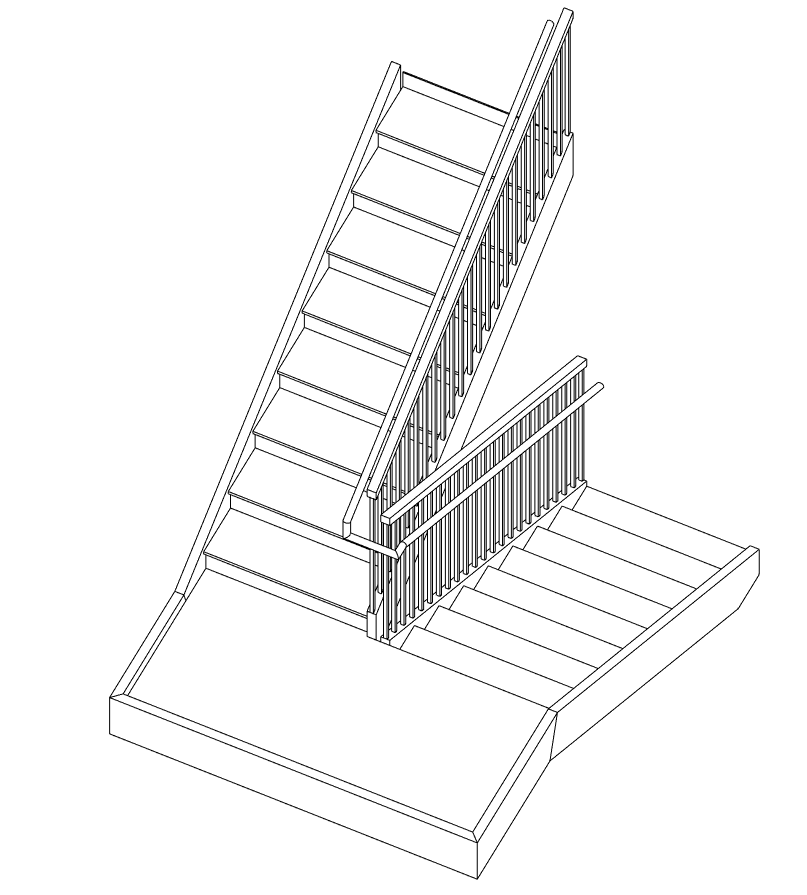 Solved: How can I join handrails at the landings of stairs