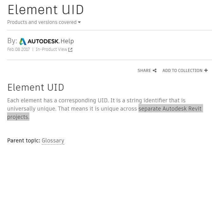 Solved: Element ID and UID - Autodesk Community- Revit Products
