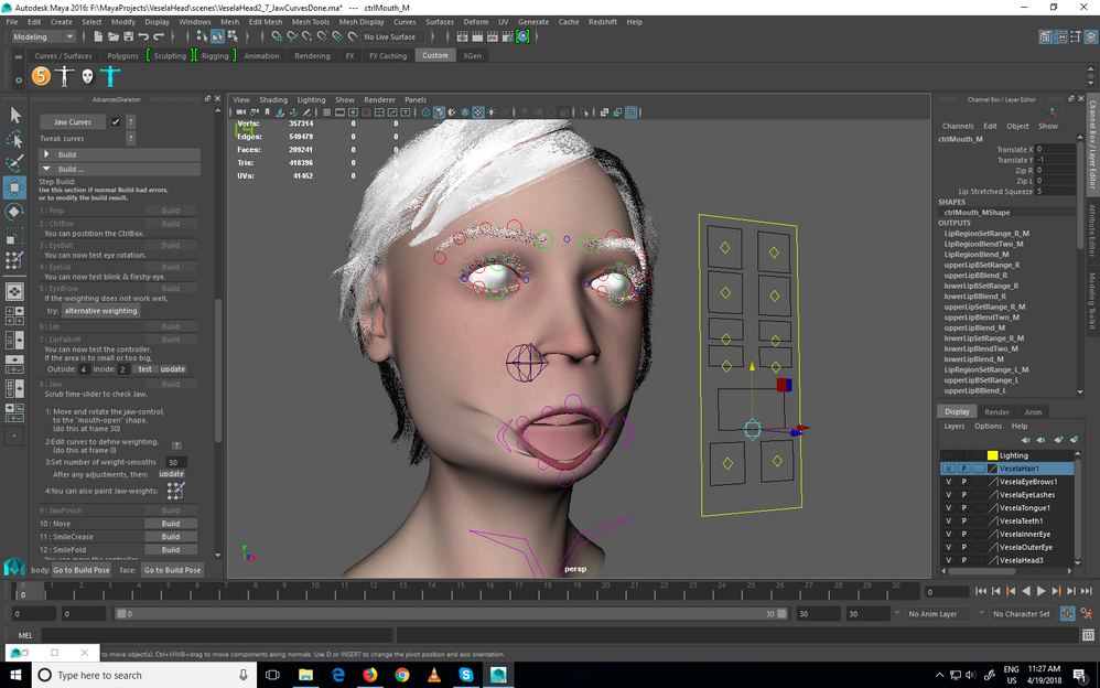 Advanced Skeleton Facial Rig Jaw doesn't deform - Autodesk