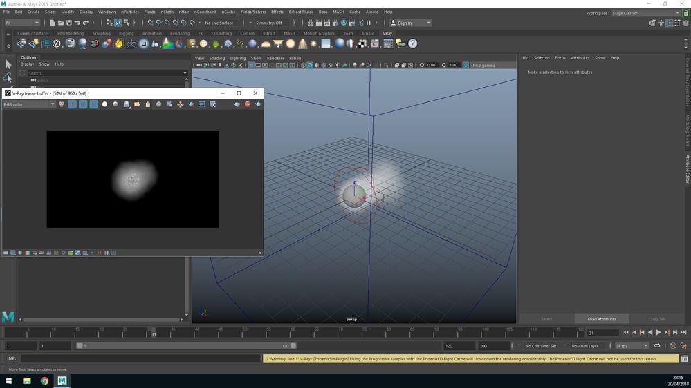 VRay bifrost render problems Aero on Maya 2018 SP2 - Autodesk