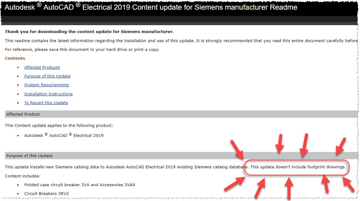 AutoCAD Electrical 2019 content pack for Siemens