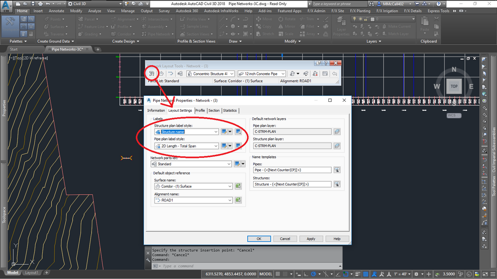 How to set default pipe label style? - Autodesk Community