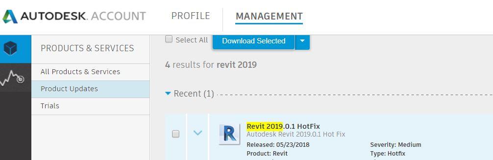 Solved: Autodesk® Revit® 2018 3 1 Revit® 2019 0 1 Hot Fix Released