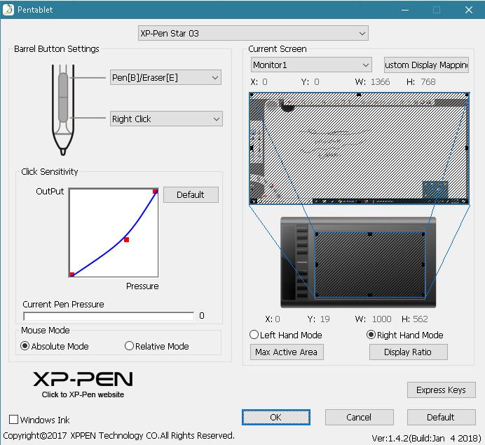 Pen pressure sensitivity not working with XP-Pen  - Autodesk