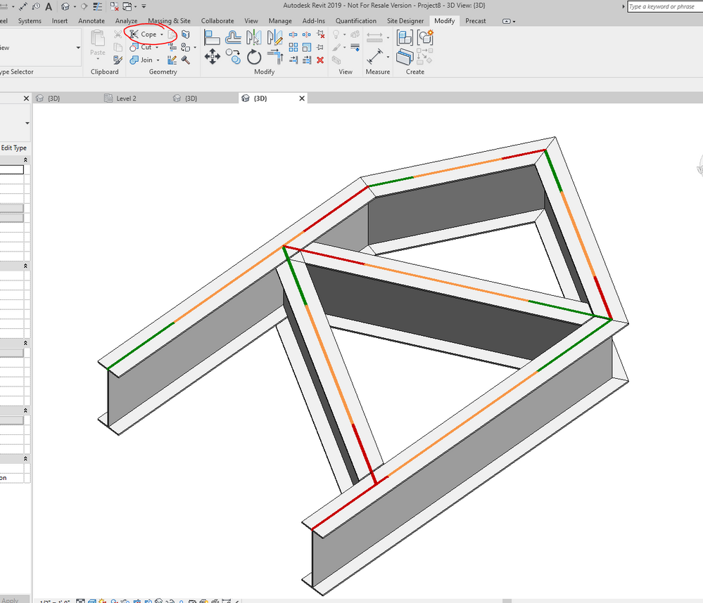 Solved: Cannot connect truss beams in node - Autodesk