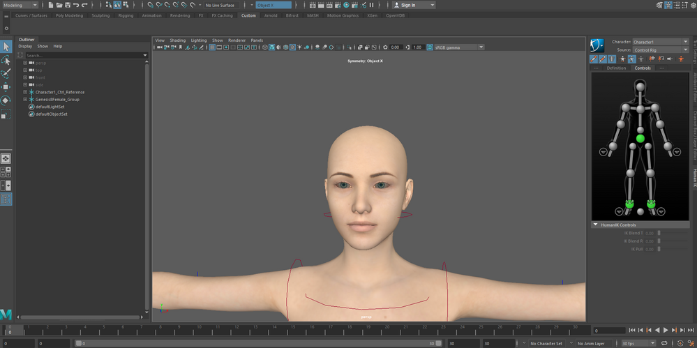 Whites eyes and opaque eyeslashes in arnold renderview maya