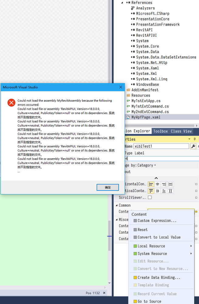 Cound not load file or assembly in my Visual Studio, working