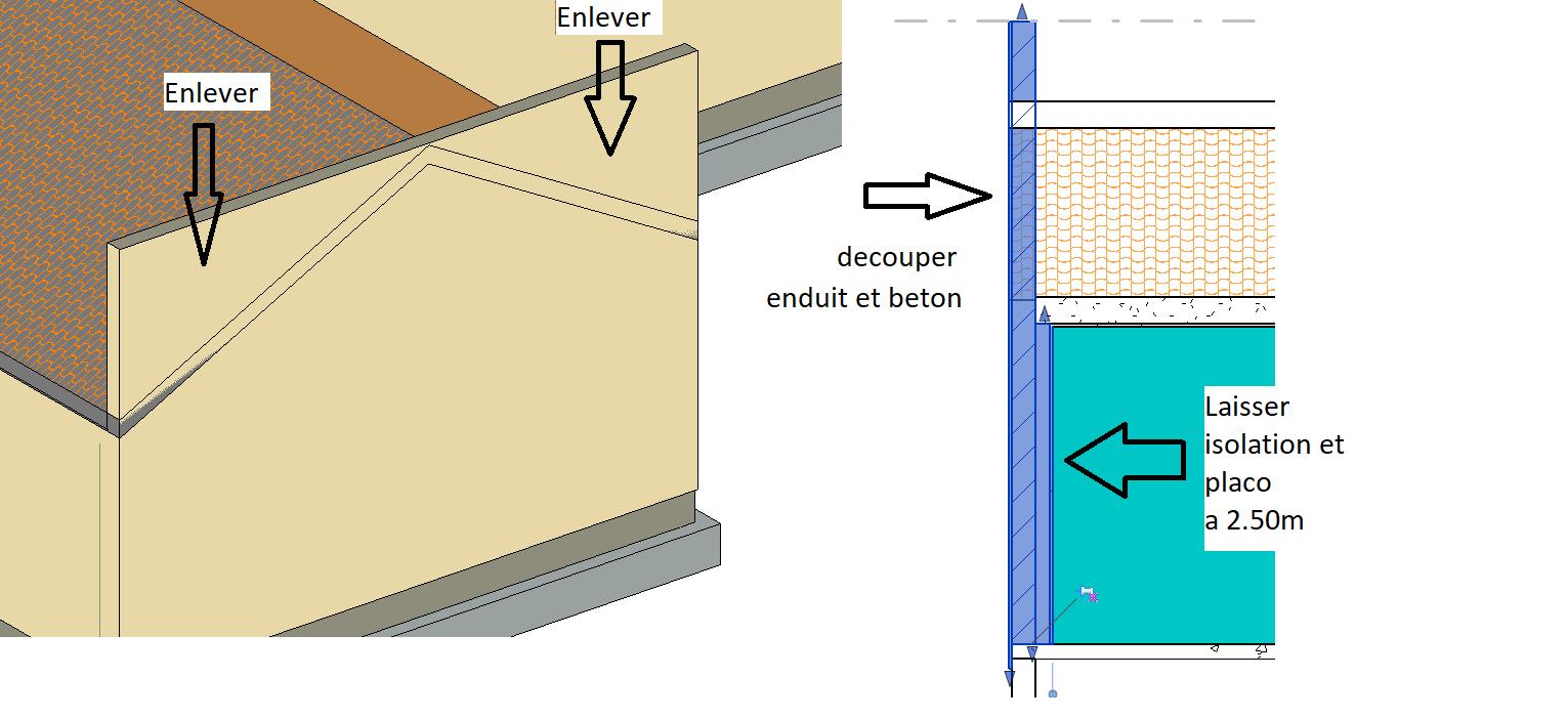 Epaisseur Enduit Sur Parpaing résolu : découpe mur épaisseur variable dans revit
