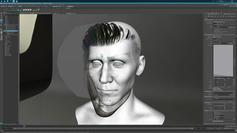Maya 2018 Xgen hair moving when previewing - Autodesk