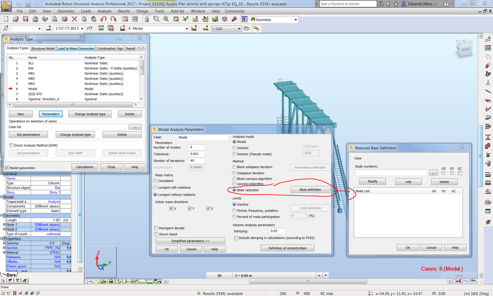 Solved: non-linera soil springs and modal analysis