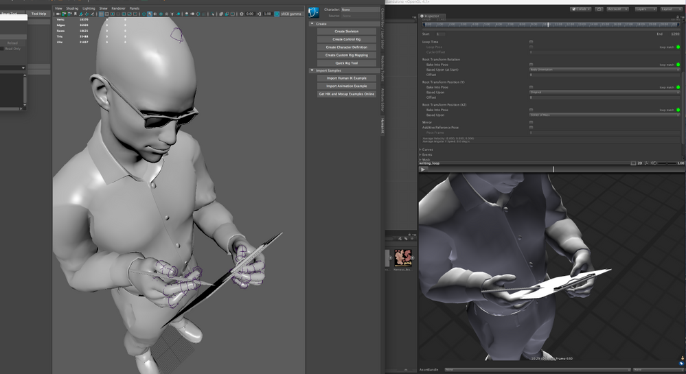 Mocap retargeted in Maya doesn't look the same in Unity - Autodesk