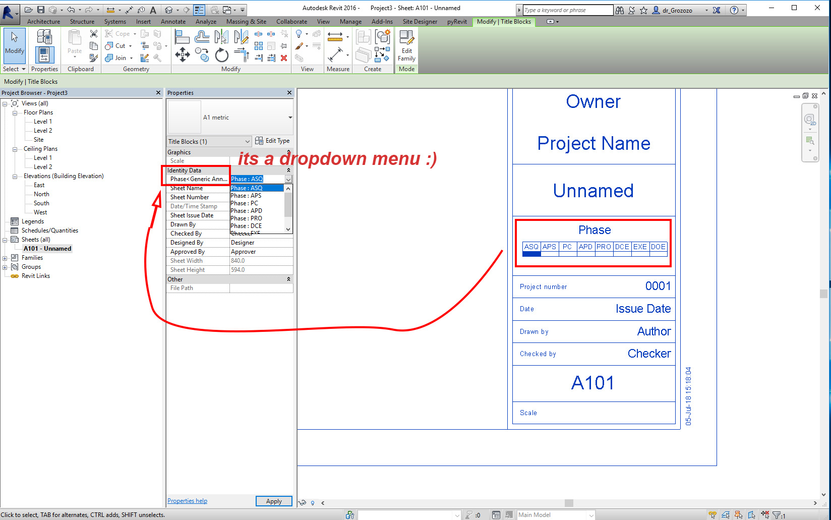 Solved: Create a parametric Title-block with Tick Box
