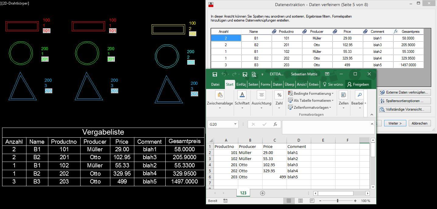 Gelöst Von Autocad Eine Excel Liste Erstellen Autodesk Community