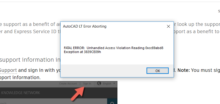AutoCAD LT 2019 Crashing randomly in windows 10 - Autodesk