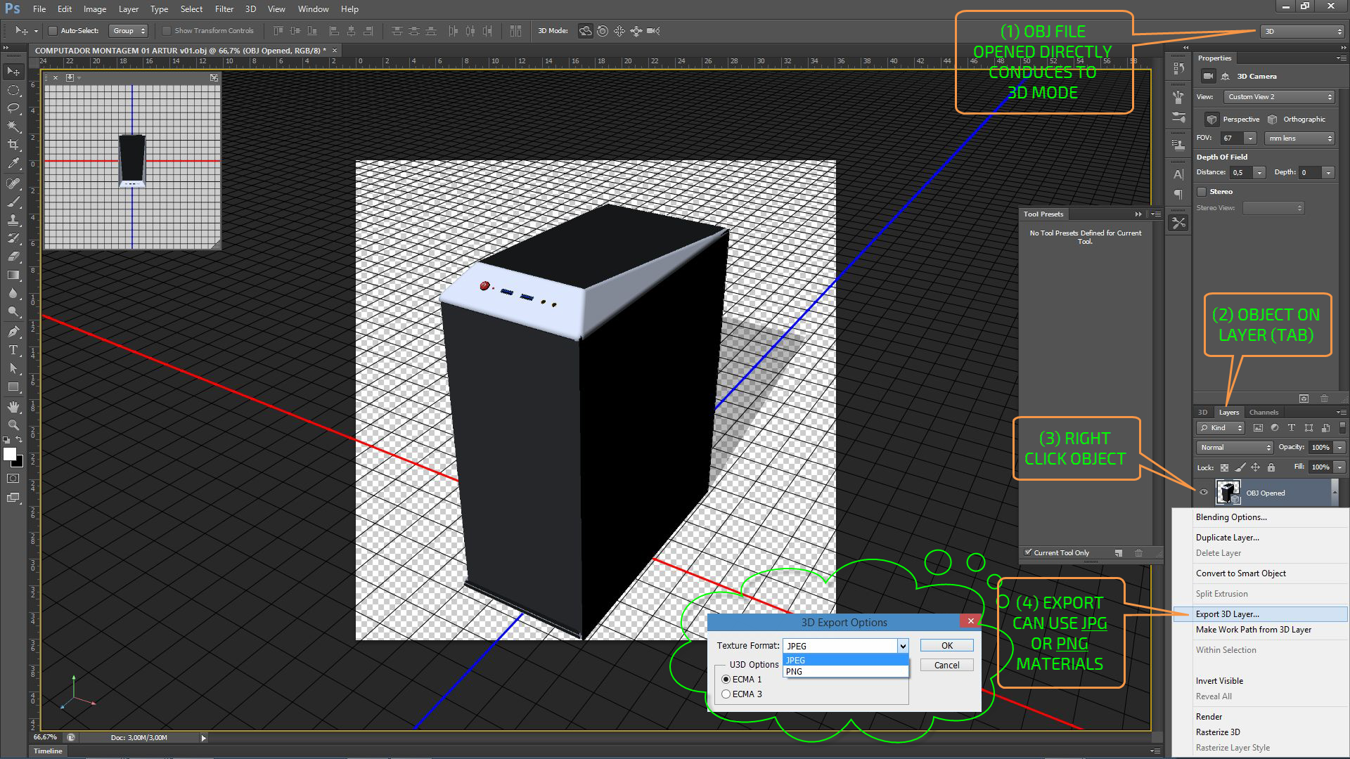 Solved: 3d Studio Max animation export to U3D format