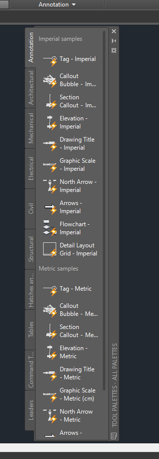 Solved: tool palette in AutoCad LT 2019 - Autodesk Community- AutoCAD LT