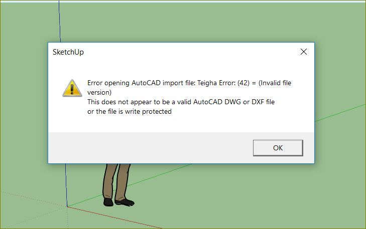 Missing NLS in AutoCAD 2018 and failed import to Sketchup - Autodesk