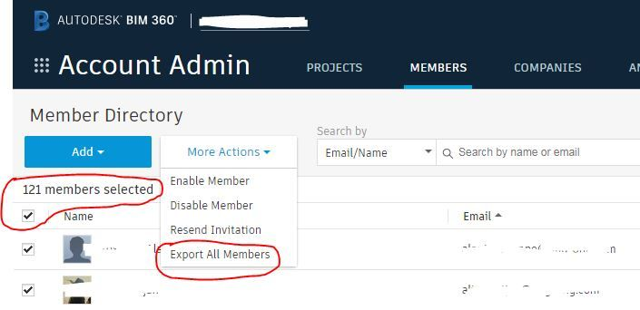 Export Selected Members Data to csv/excel - Autodesk Community