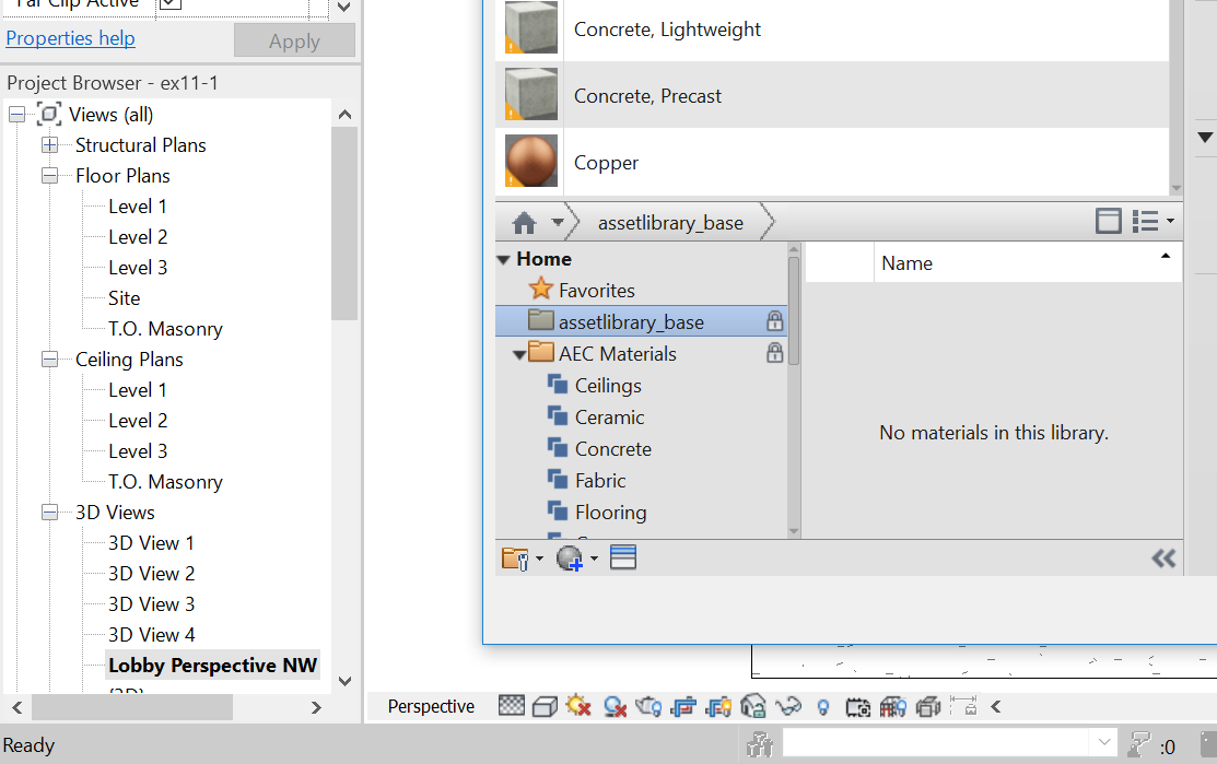 Material Library Assets Locked - Autodesk Community- Revit