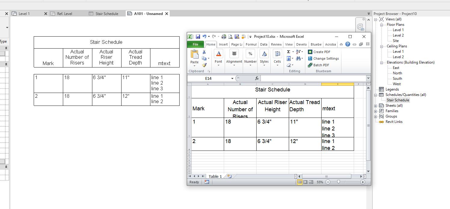 Solved: Line breaks in  txt Revit schedule export? - Autodesk