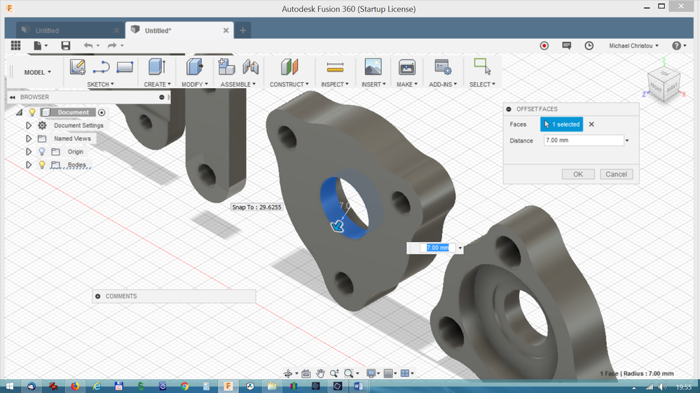 Solved: Change dimension of circle in a body - Autodesk