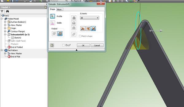 V Shape Bent Sheet Metal Part Autodesk Community