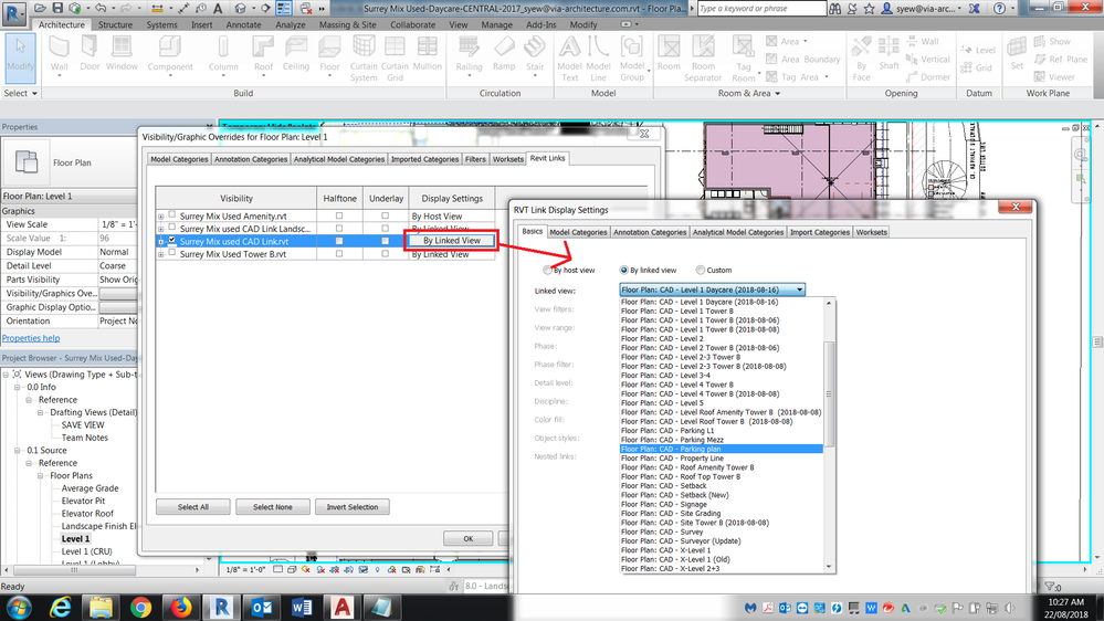 Solved: How to link CAD in only a few Views in Revit
