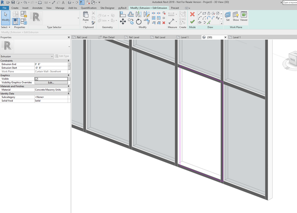 Avoid Gaps For Wall Parts In Curtain Walls Autodesk