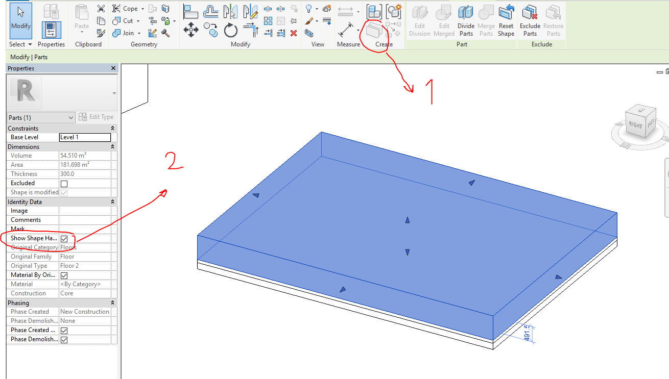 Solved Split A Floor Into Two Floors Surface And Element At The Same Time Autodesk Community Revit Products