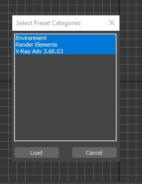 Solved: Save Render Presets - Render Elements category