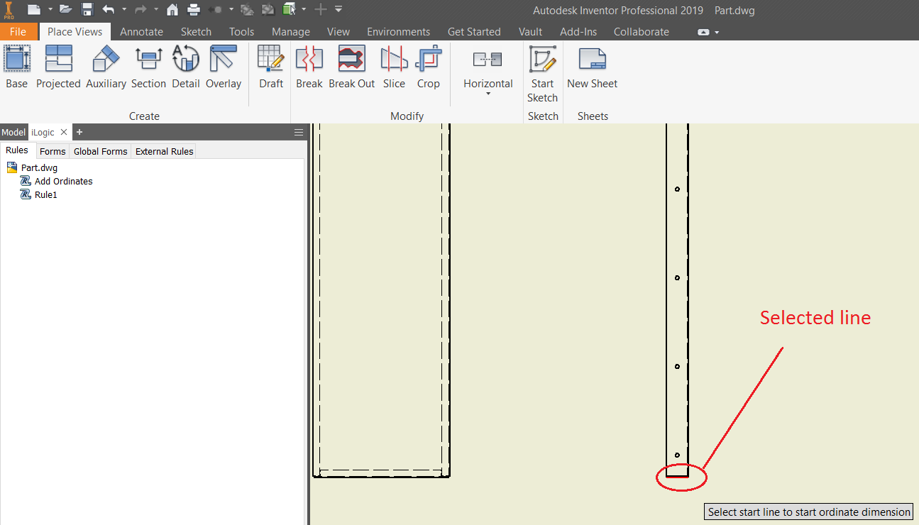 Solved: Auto Ordinate Dimensions - Autodesk Community- Inventor